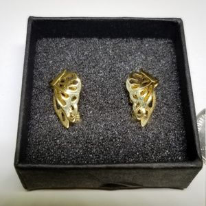 Gold Avon Butterfly Earrings #64